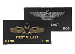 Navy Leather Name Tags