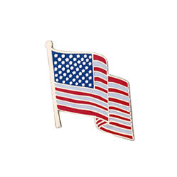 "Waving American Flag 5/8"" Lapel Pin"