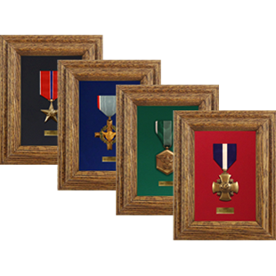 Single Military Medal Display