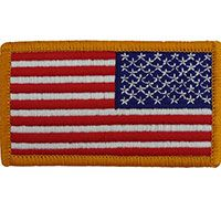Full Color U.S. Flag Patch - Reverse#