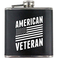 American Veteran 6 oz. Flask with Wrap