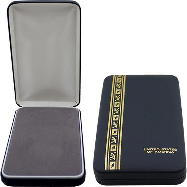 Large Leather-Bound 3-Piece (w/o Medallion Indentation) Presentation Case