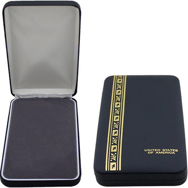 Large Leather-Bound 4-Piece Presentation Case