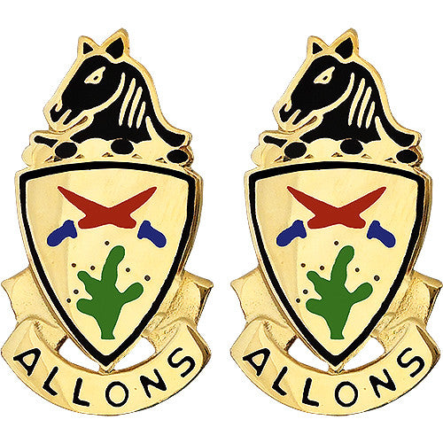 11th ACR (Armored Cavalry Regiment) Unit Crest (Allons)