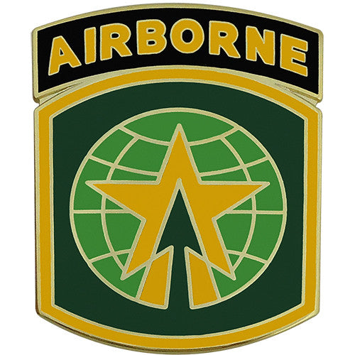 16th Military Police Brigade Combat Service Identification Badge with Airborne Tab