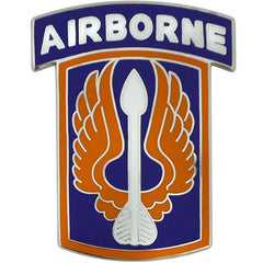 18th Aviation Brigade With Airborne Tab Combat Service Identification Badge
