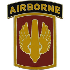 18th Fires Brigade With Airborne Tab Combat Service Identification Badge