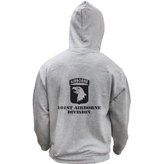 Army 101st Airborne Division Subdued Veteran Pullover Hoodie Sweatshirt