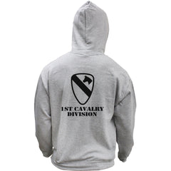 Army 1st Cavalry Division Subdued Veteran Pullover Hoodie Sweatshirt