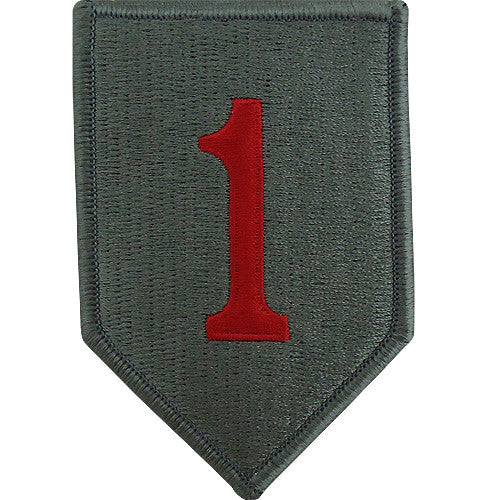 1st Infantry Division ACU Patch With RED 1