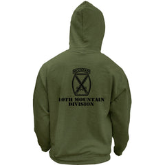 Army 10th Mountain Division Subdued Veteran Pullover Hoodie Sweatshirt