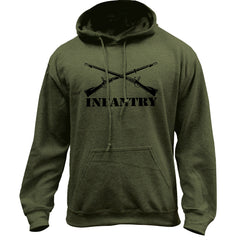 Army Infantry Branch Insignia Pullover Hoodie