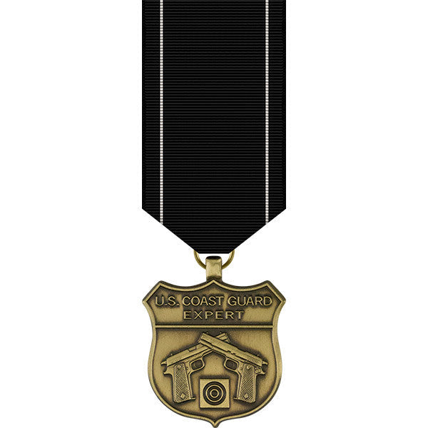 Coast Guard Expert Pistol Shot Miniature Medal