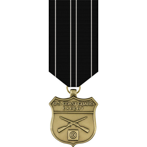 Coast Guard Expert Rifle Miniature Medal