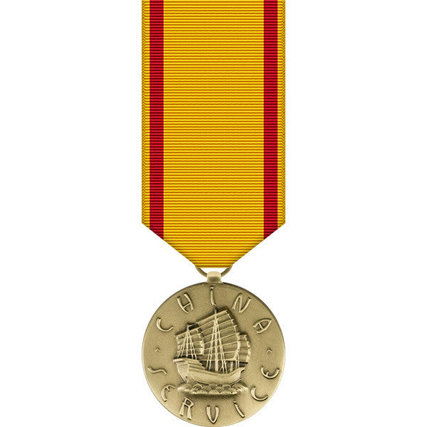 Navy China Service Miniature Medal