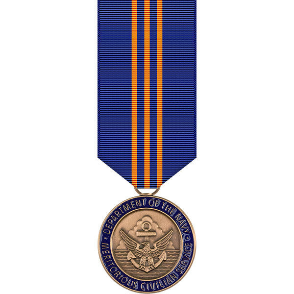Navy Meritorious Civilian Service Award Miniature Medal
