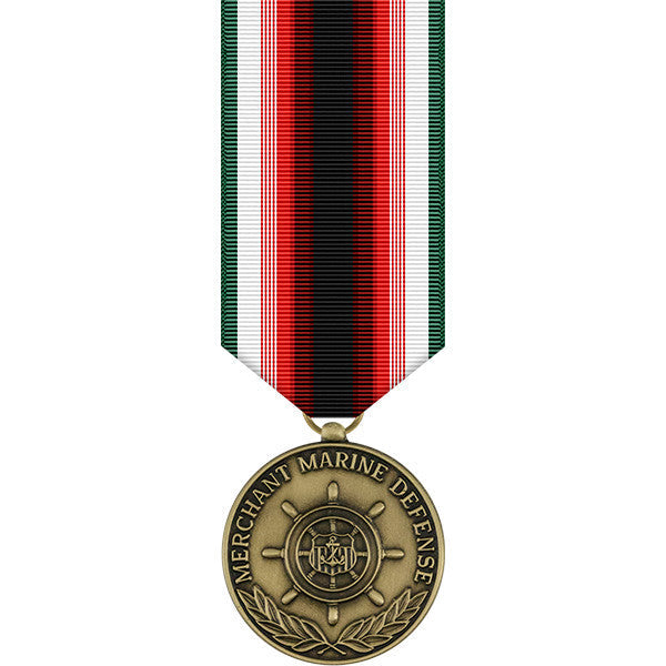 Merchant Marine Defense Miniature Medal