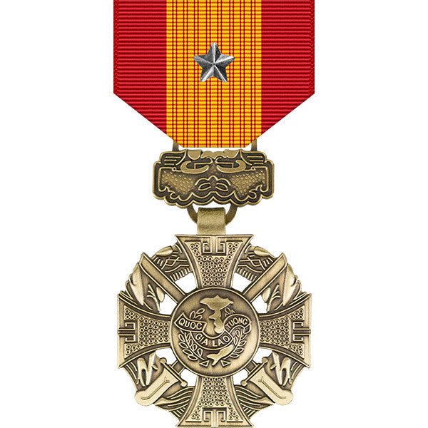 Republic of Vietnam Gallantry Cross Medal w/ Silver Star