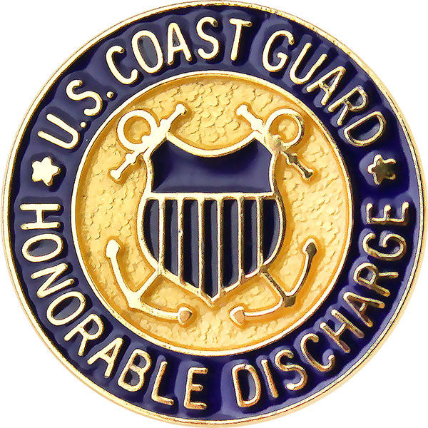 Coast Guard Honorable Discharge Lapel Pin