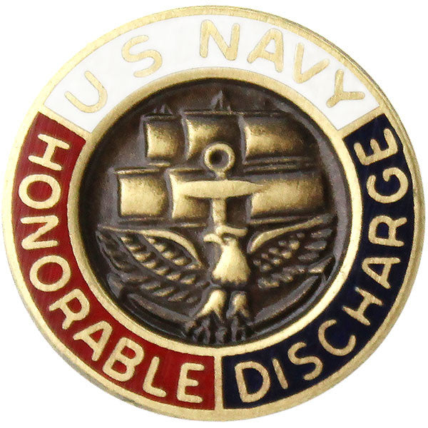 Navy Honorable Discharge Lapel Pin