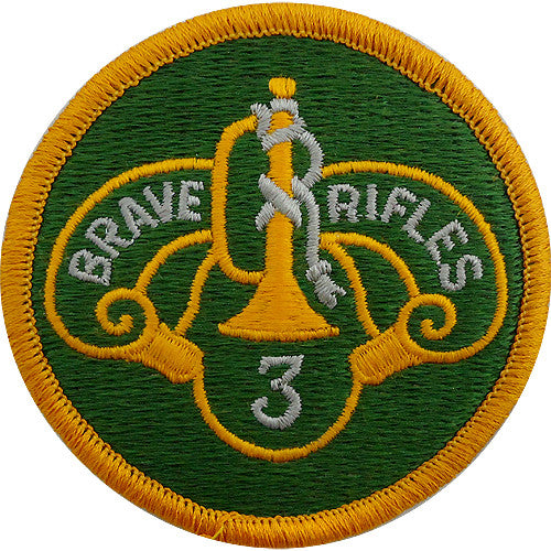 3rd Cavalry Regiment Class A Patch
