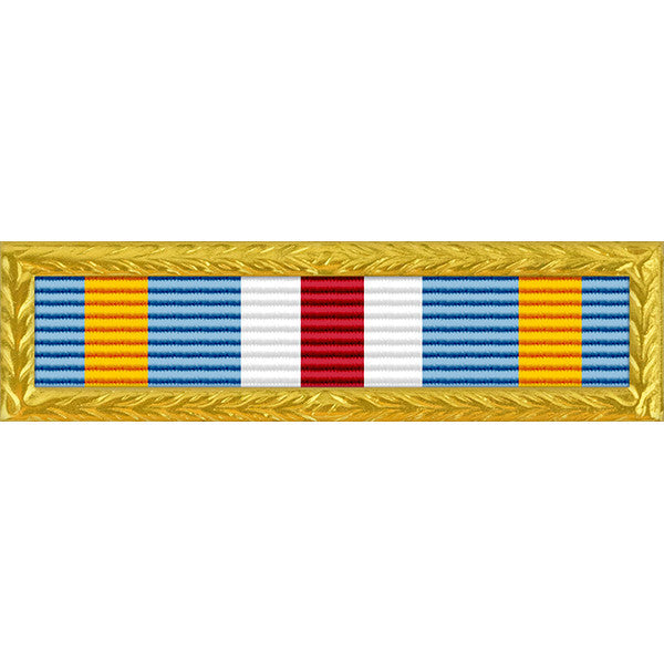 Joint Meritorious Unit Award - Thin Ribbon with NAVY/AF/MC/CG Frame
