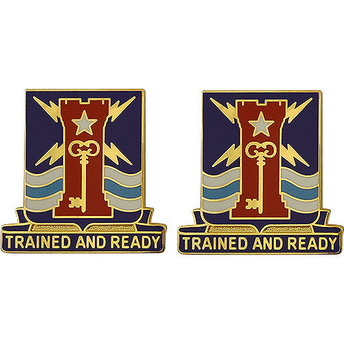 Special Troops Battalion, 4th Brigade, 1st Infantry Division Unit Crest (Trained and Ready)