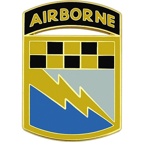 525th Military Intelligence Brigade With Airborne Tab Combat Service Identification Badge
