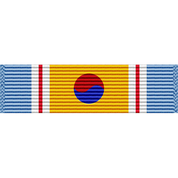 Republic of Korea (ROK) Korean War Service Medal Thin Ribbon (with Device)