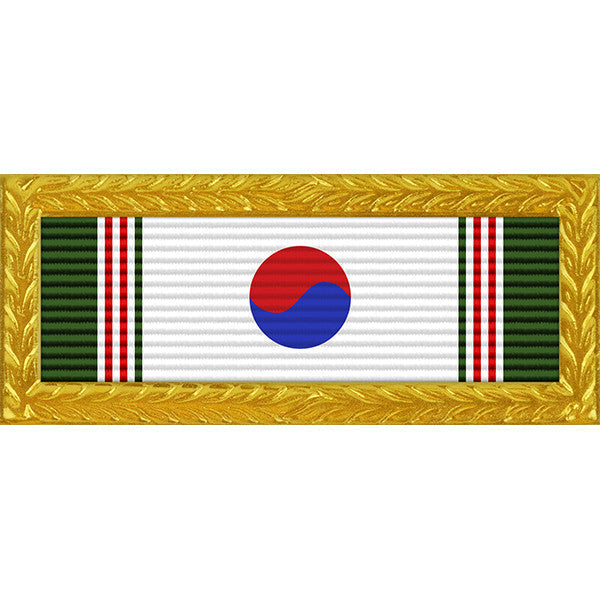 Republic of Korea Presidential Unit Citation - Thin Ribbon with Army Frame