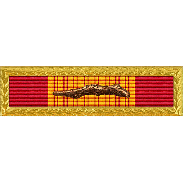 Republic of Vietnam (RVN) Gallantry Cross Unit Citation - Thin Ribbon - AF/N/MC/CG Frame