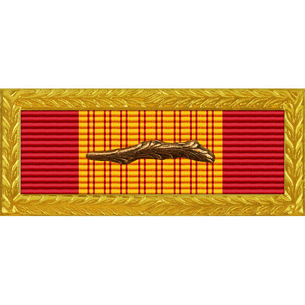 Republic of Vietnam (RVN) Gallantry Cross Unit Citation - Thin Ribbon - Army Frame