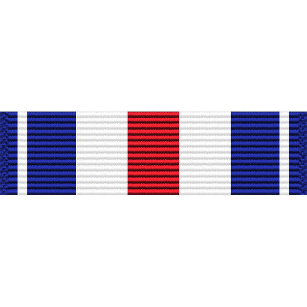 Silver Star Medal Thin Ribbon