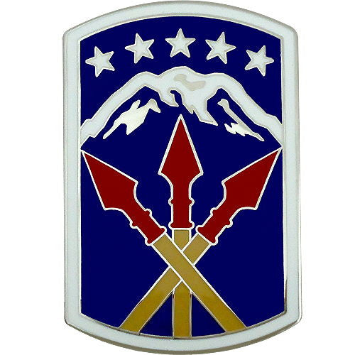 593rd Sustainment Brigade Combat Service Identification Badge