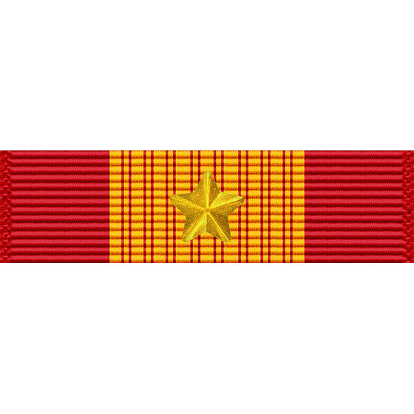 Republic of Vietnam (RVN) Gallantry Cross Medal w/ Gold Star Thin Ribbon
