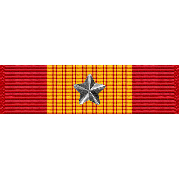 Republic of Vietnam (RVN) Gallantry Cross Medal w/ Silver Star Thin Ribbon