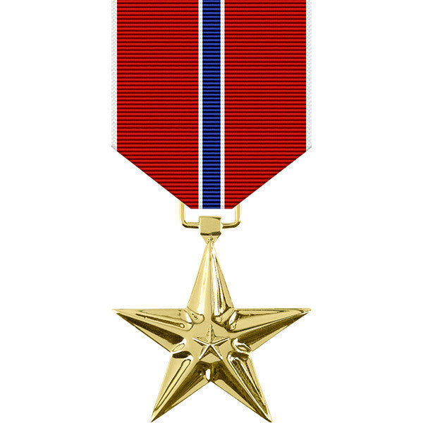 Bronze Star Anodized Medal