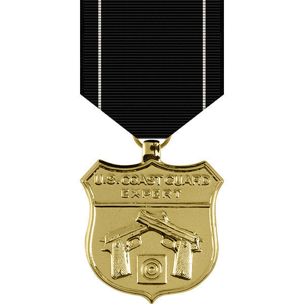 Coast Guard Expert Pistol Shot Anodized Medal