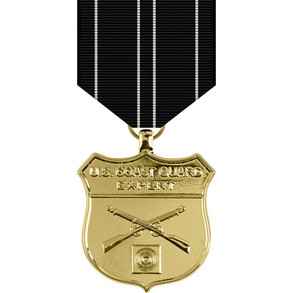 Coast Guard Expert Rifle Anodized Medal