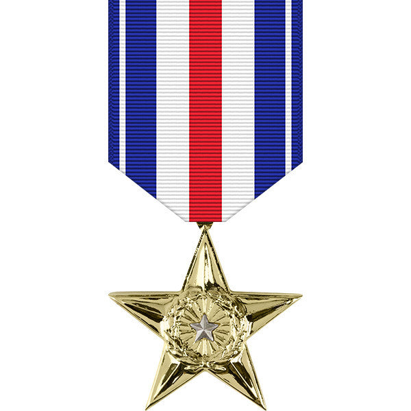 Silver Star Anodized Medal