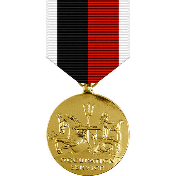 World War II Marine Corps Occupation Service Anodized Medal