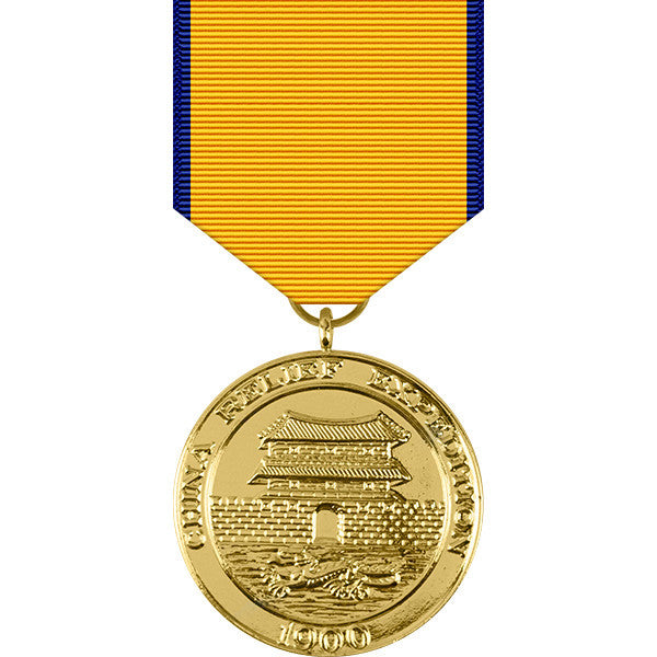 China Relief Expedition Anodized Medal - Navy