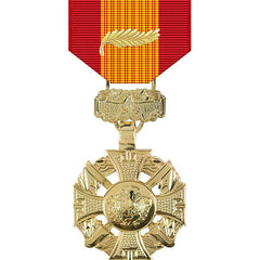 Republic of Vietnam Gallantry Cross Anodized Medal w/ Palm