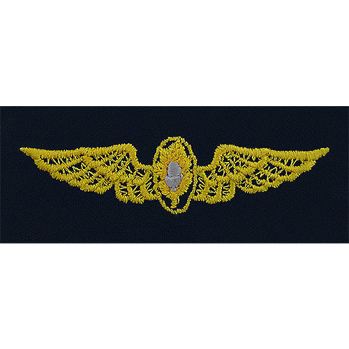 Navy Flight Surgeon Embroidered Coverall Breast Insignia