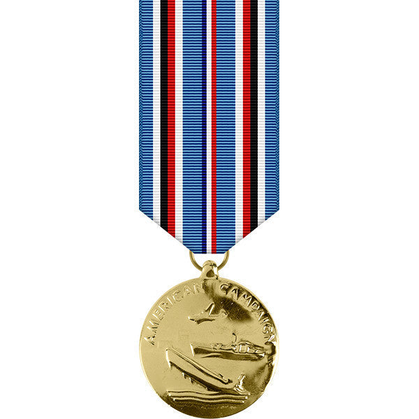 American Campaign Anodized Miniature Medal - WW II