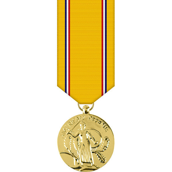 American Defense Anodized Miniature Medal - WW II