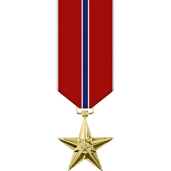 Bronze Star Anodized Miniature Medal