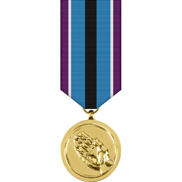 Humanitarian Service Anodized Miniature Medal