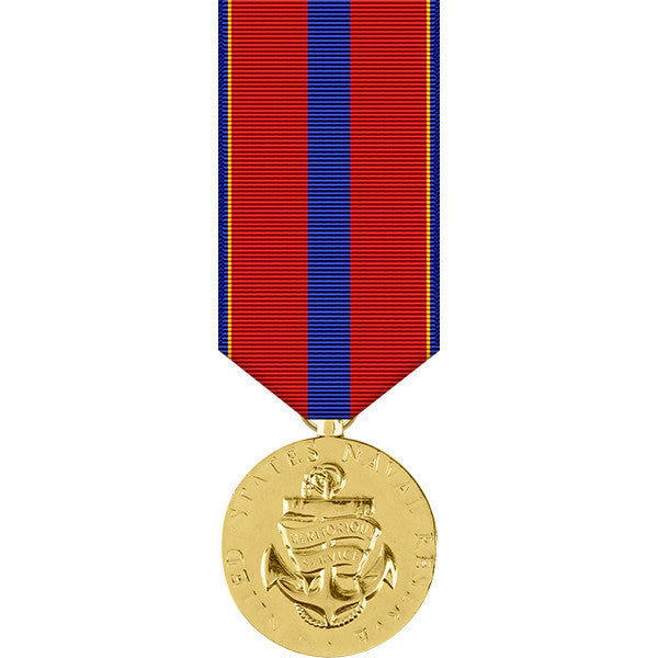Naval Reserve Meritorious Service Anodized Miniature Medal