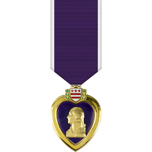 Purple Heart Anodized Miniature Medal